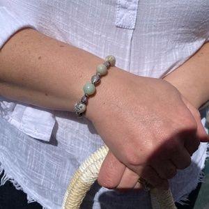 Hand Crafted Amazonite Stone & Fish Bead Bracelet